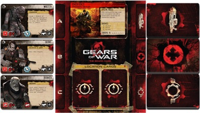 Gears of War game layout