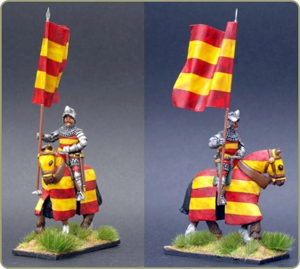 medieval barding set applied to a Kingmaker miniature