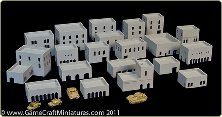 1:285 scale Middle East buildings