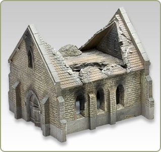 15mm destroyed Normandy church