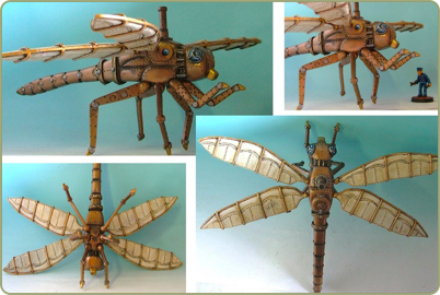 Steampunk Dragonfly Flying Machine