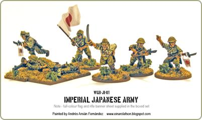 Painted Japanese figures