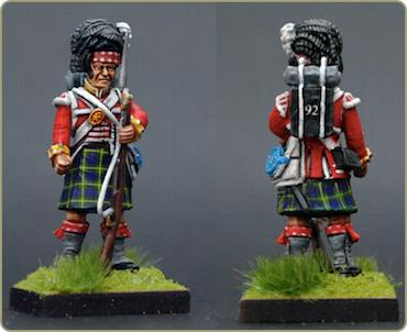 Victrix 28mm Scottish Highlander Gordon 92nd Tartan Kilt  transfers copy