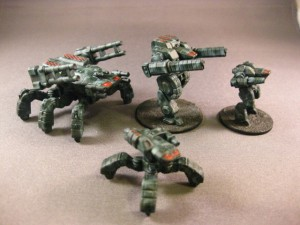 Microworld Games Releases New 6mm Scifi Walkers - Tabletop Gaming