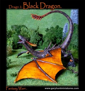 Black dragon painted