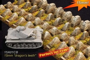 15mm dragons teeth anti-tank fortification