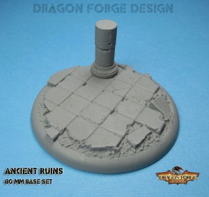 80 mm round lip ancient ruins set 1