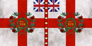 British 17th foot regimental colour