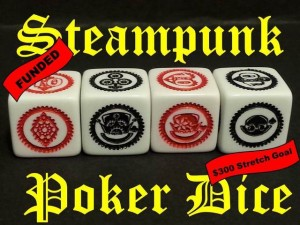Steampunk Poker dice