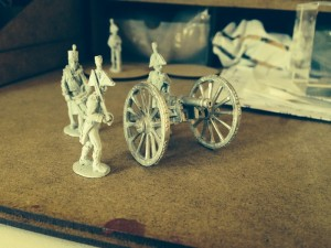 Cannon and figures