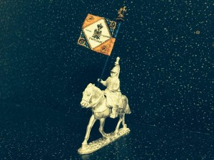 French Dragoon standard bearer on heavy horse (flag not included)