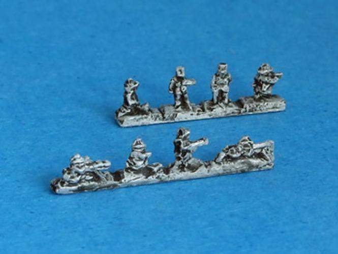 GW-611 French Infantry II (15 pcs) Machine guns and command