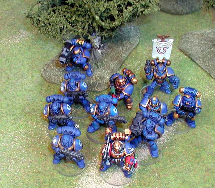 Games Workshop WH40K Space Marines Clear Bases