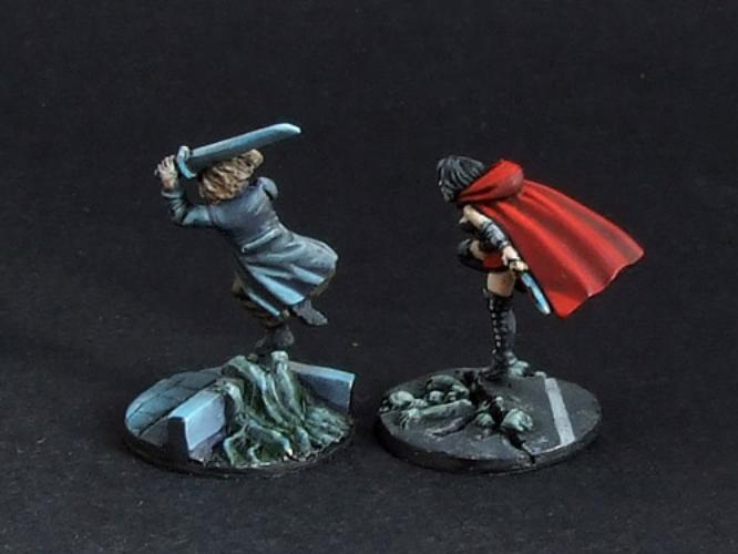 SF-1533 Ahayaa & Tarhsis (2 pcs) Vampire heroes - 2 miniatures with scenic bases