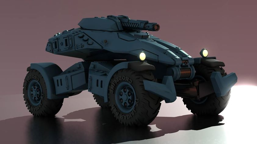 Hell Divers Light Strike Vehicle 3