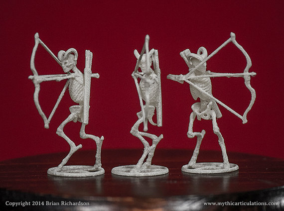 Skeletal Fauns with Bows