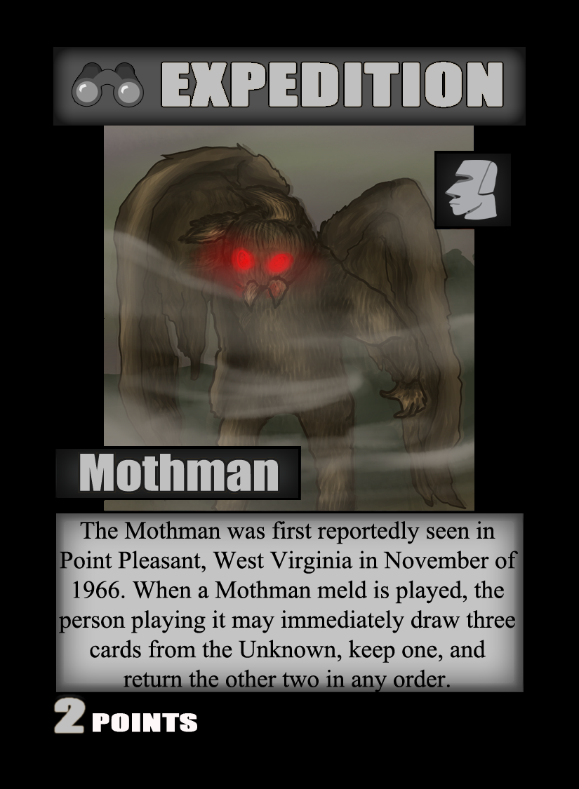 The Mothman is a new cryptid from Mysterious Locations