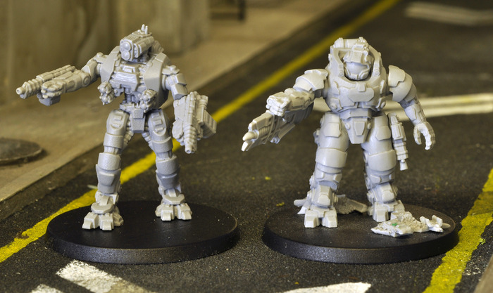 We've lined up the Wardone next to one of our Ajax Exo-Mechs so that those of you familiar with our current range can get a feel for the size
