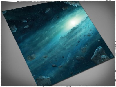 asteroid fields gaming mat