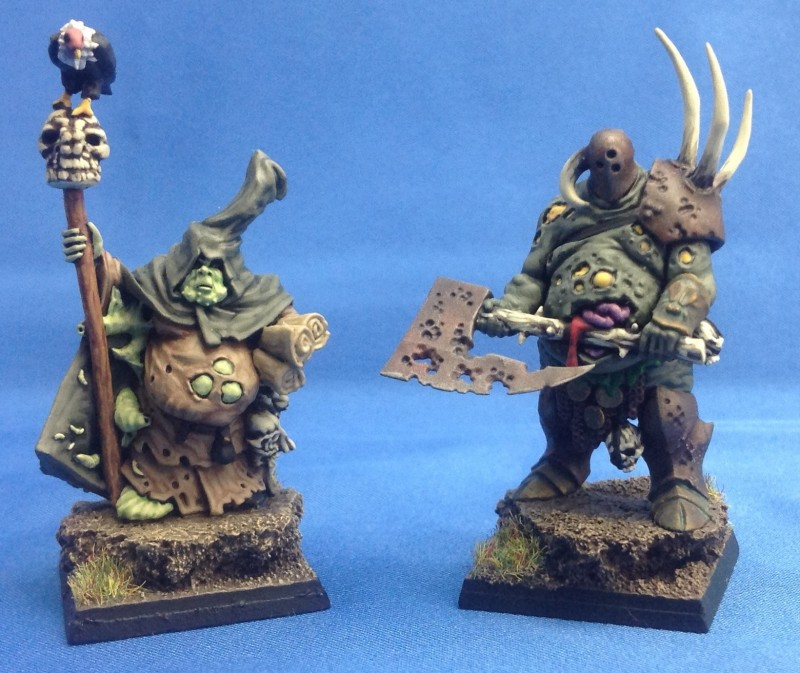 Enrico's Nurgle Chaos Sorcerer and Nurgle Chaos Lord