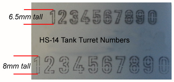HS-14 Tank Turret Numbers.