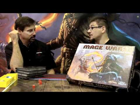 Bryan Pope and Enrico Nardini at the Origins 2011 debut of Mage Wars