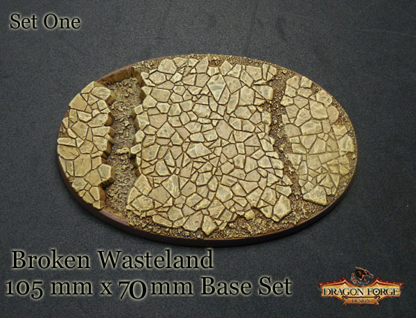 105  mm x 70 mm broken wasteland bevel edge set one