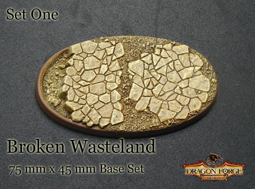 75 mm x 45 mm broken wasteland bevel edge set one
