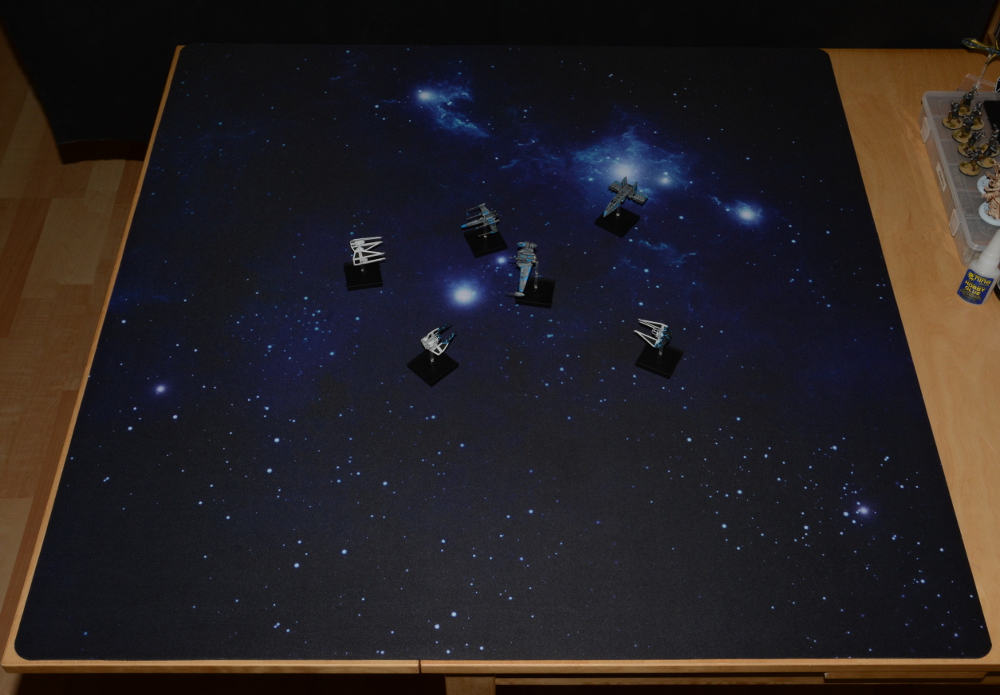 The full mat with a little battle scene