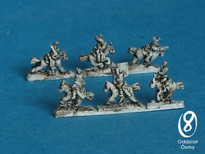 Chasseurs a cheval - command (10 + 5 pcs) Light cavalry in shako with command