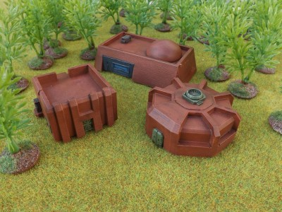 10mm SF Desert Buildings