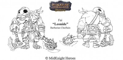 Leonide Fai Barbarian Cheiftain of the Kaioe Clan