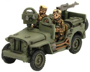 Armoured SAS Jeep with twin MG