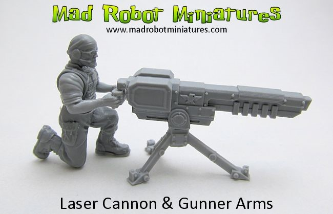 Laser Cannon and gunner arms