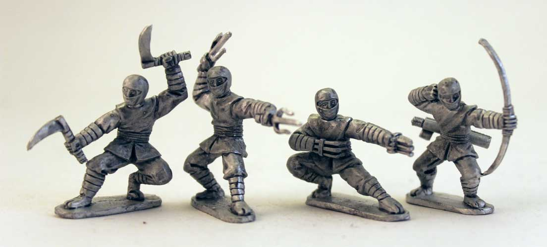Ninjas with Various Weapons