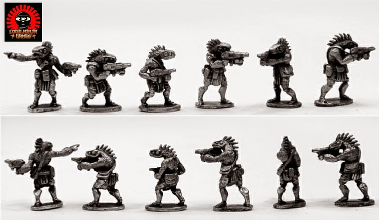RAP016 Ikwen Militia w Assault Rifles (6 miniatures in 6 poses)