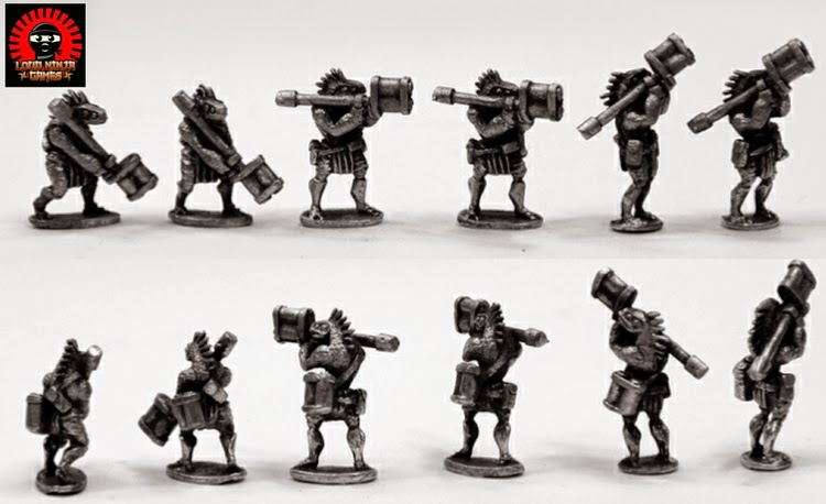 RAP017 Ikwen Militia w Rocket Launchers (6 miniatures in 3 poses)