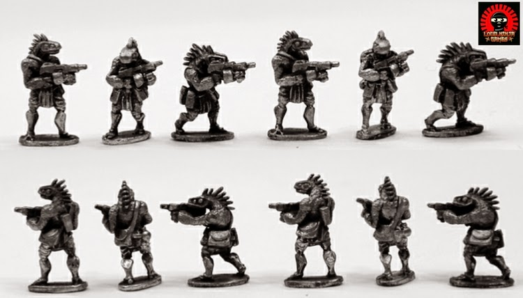 RAP018 Ikwen Militia w Light Machine Guns (6 miniatures in 3 poses)