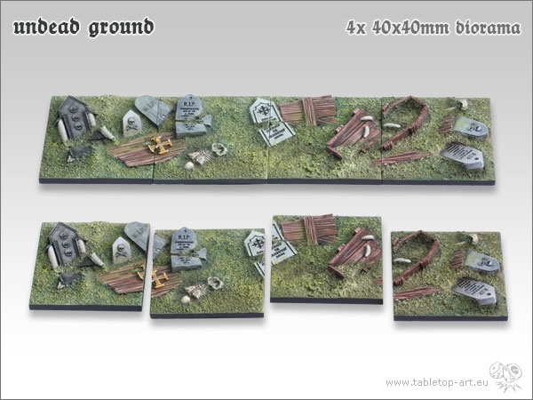 Undead-Ground-40x40mm-Diorama