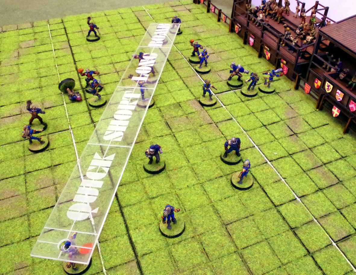 Bloodbowl pass ruler 2