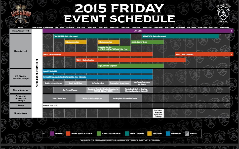 privateer press posts lock load events schedule tabletop gaming