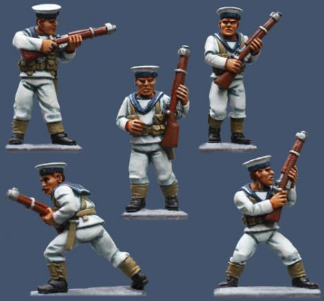 Pulp Figures British Empire PBT17 British Sailors with Rifles