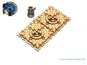 Stone Temple display, 8 bases version
