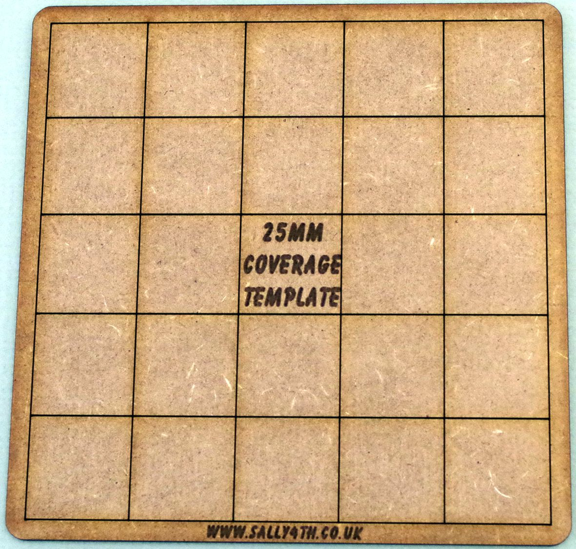 25mm coverage template