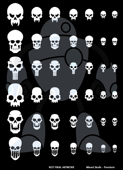 Mixed Skulls Design