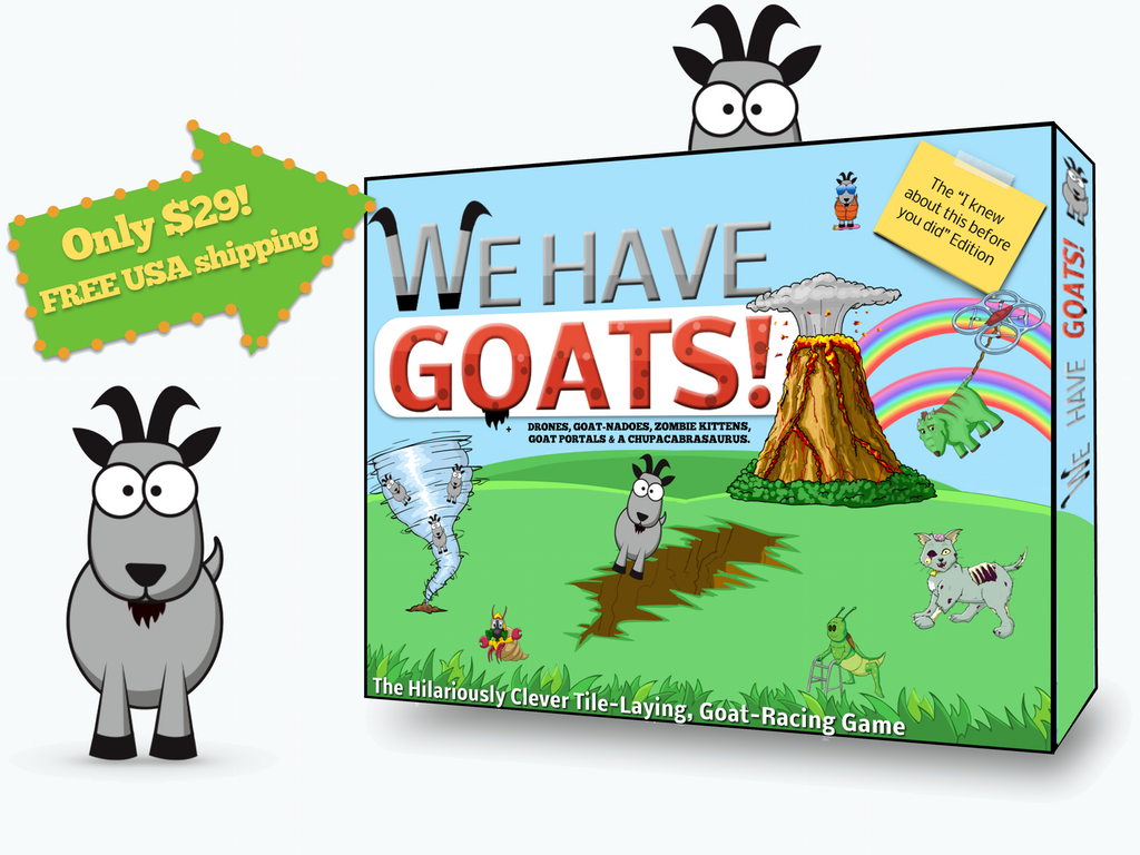 We Have Goats The I Knew About This Before You Did Edition For All Hipsters Out There Is A New Tile Laying Board Game Thats Up On Kickstarter And