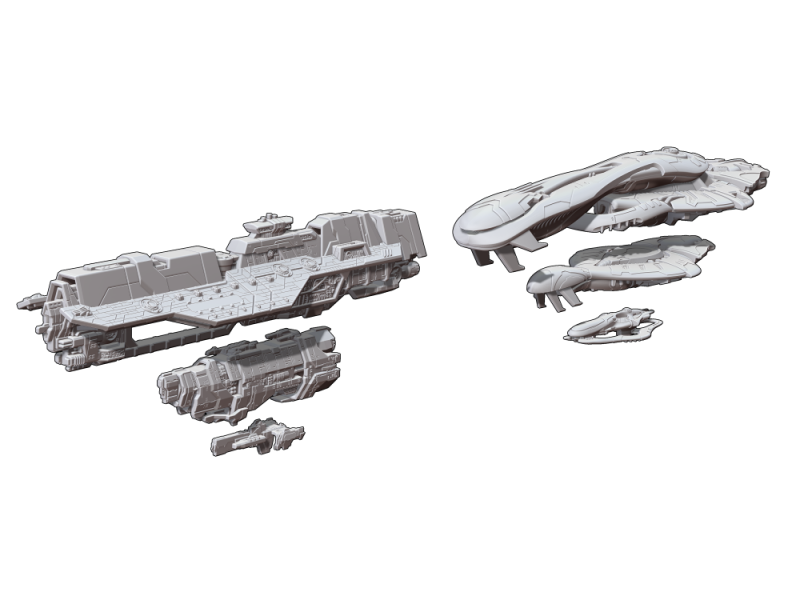 Ships to scale