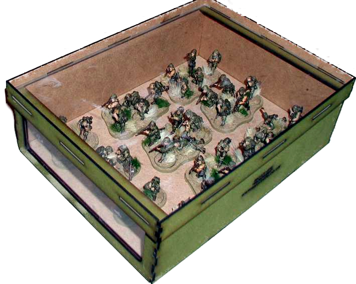 Painted Warchest 70mm Olive Green cut out