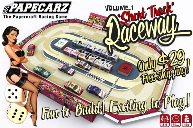 Papecarz The Papercraft Racing Board Game On Indiegogo