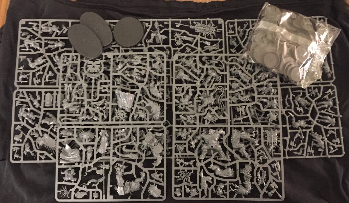 All the sprues from the box set.